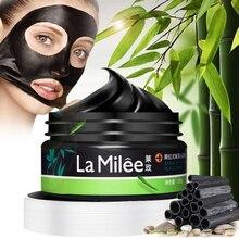 Bamboo Charcoal czarna maska Peel Off nos zaskórnika martwej skóry czyste zaskórnika kurczenie się porów pielęgnacja twarzy 120g