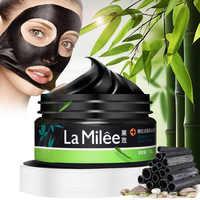 Bambus Holzkohle Schwarz Maske Abziehen Nase Mitesser Toten Haut Sauber Mitesser Poren Schrumpfen Gesicht Pflege 120g