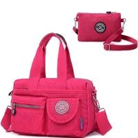 Luxury Handbags Women Bags Designer Nylon Purse Shoulder Bag Female Crossbody Bags High Quality Bolsa Tote Beach 2pcs/set