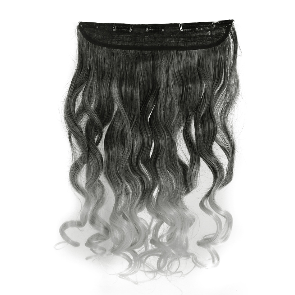 Fantasy Loose Deep Clip In Hair Extensions Fiber 60cm Thick Hairpieces Ombre Synthetic Clip Hair Extensions Full Head