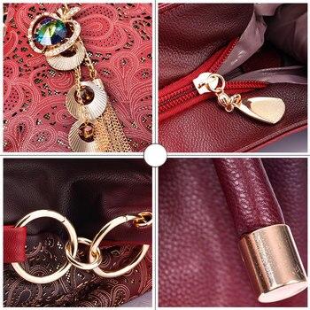 Ombre Floral Print Shoulder Bags 4