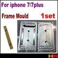 1 conjunto para iphone 7 7 plus 7 p quadro moldura lcd molde remodelação mould molde de metal do molde da máquina de laminação