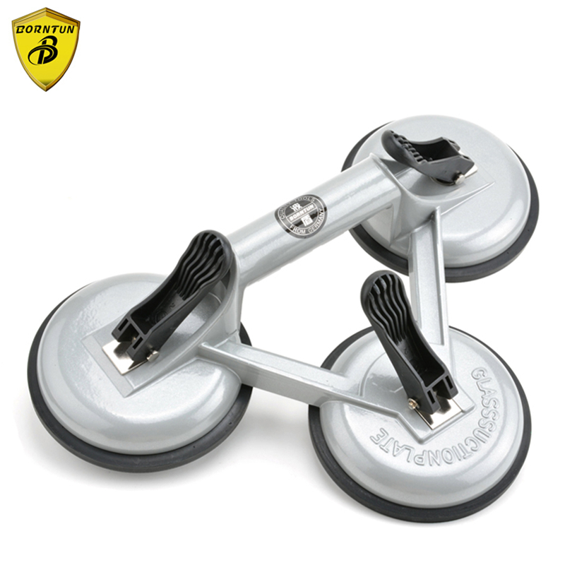 Borntun Glass Car Sucker Suction Sucking Plate Cup Cups Pads Glass-sucker Pulling Remover Lifting Glass Marble Car Housing Stone plastic glass sucker disc sucker anti static floor suction cup sucker tool