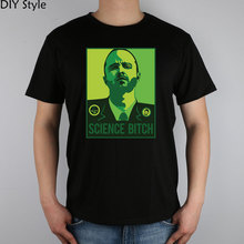 BREAKING BAD font b science b font bitch Jesse pinkman T shirt Top Lycra Cotton Men