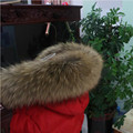 100% Real Natural Raccoon Fur Collar & Womens Scarfs Fashion Coat Sweater Scarves Collar Luxury Oversized Fur Neck Cap L#50