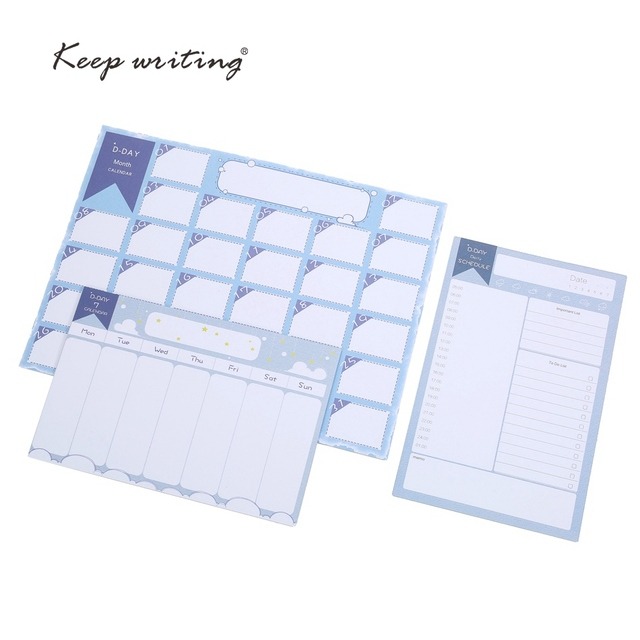 Month Calendar Week Plan Daily Schedule TO DO LIST MEMO Stationery