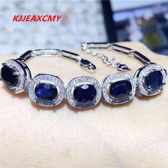 KJJEAXCMY Fine jewelry Natural gemstone sapphire women s bracelet inlaid jewelry wholesale S925 Sterling Silver