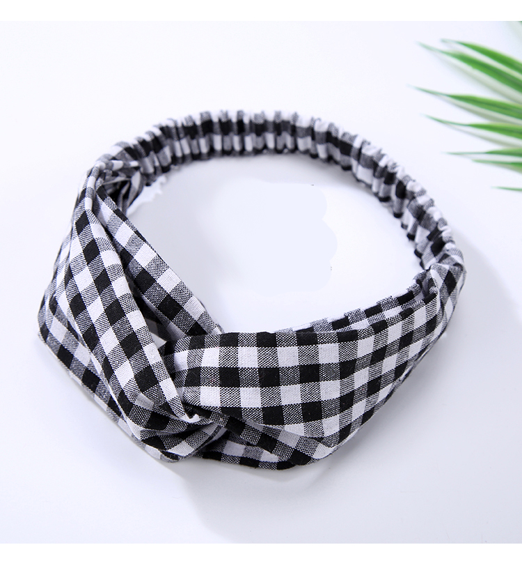 US $1 26 11% OFF|Classic Plaid Top Knot Headband Turban Elastic Knotted  Head Wrap Hairband Hair Accessories for Women Girls Headwear-in Women's  Hair