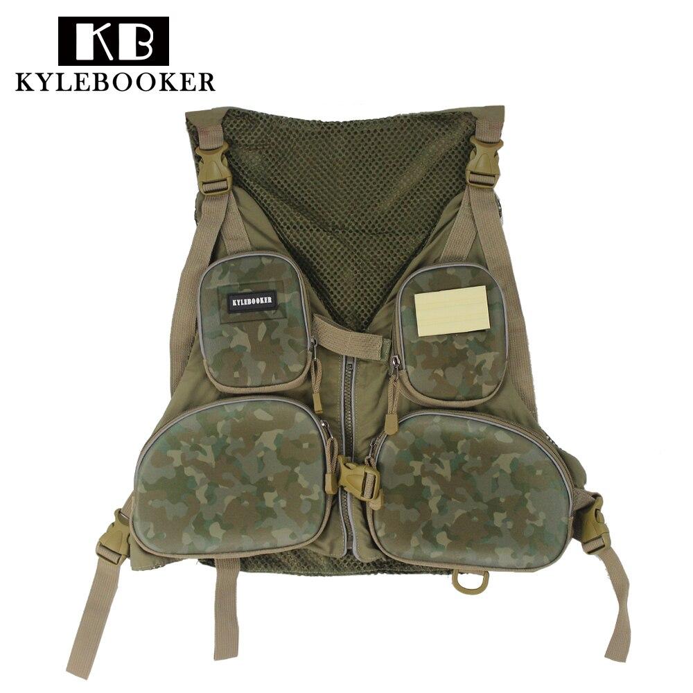 Multi-pocket Fly Fishing Vest Backpack Mesh Bag Vest Outdoor Handy Adjustable gilet hunting jacket clothes fish tackle