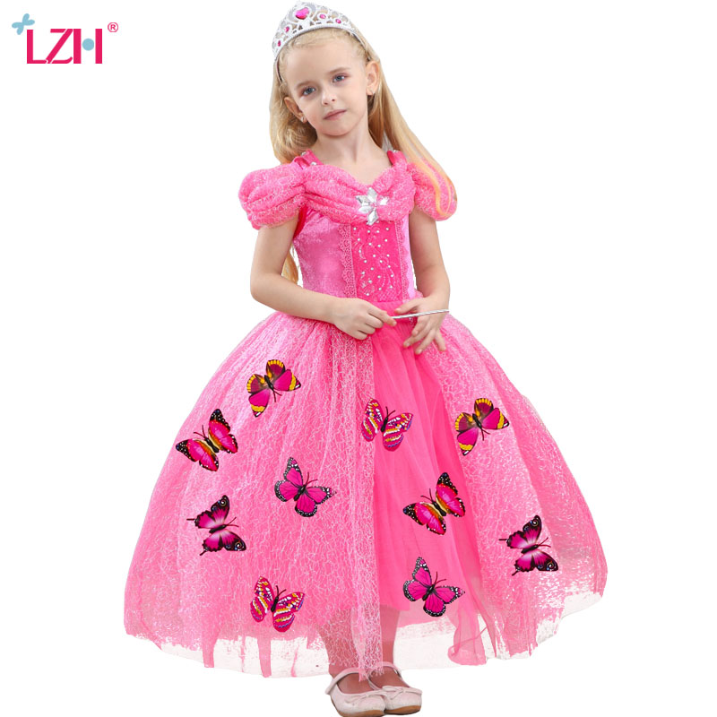 LZH Cinderella Dress Easter Carnival Costume For Kids Children Rapunzel Sofia Snow White Dress For Girls Princess Party Dresses princess cinderella girls dress snow white kids clothing dress rapunzel aurora children cosplay costume clothes age 2 10 years