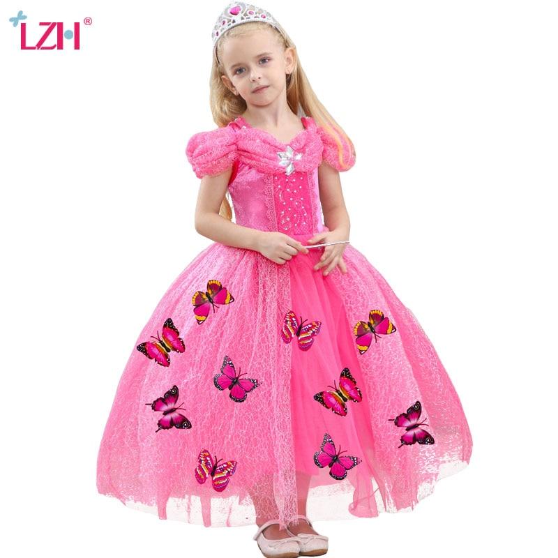 Original Princess Snow White Cinderella Dresses Costumes: LZH Cinderella Dress Easter Carnival Costume For Kids