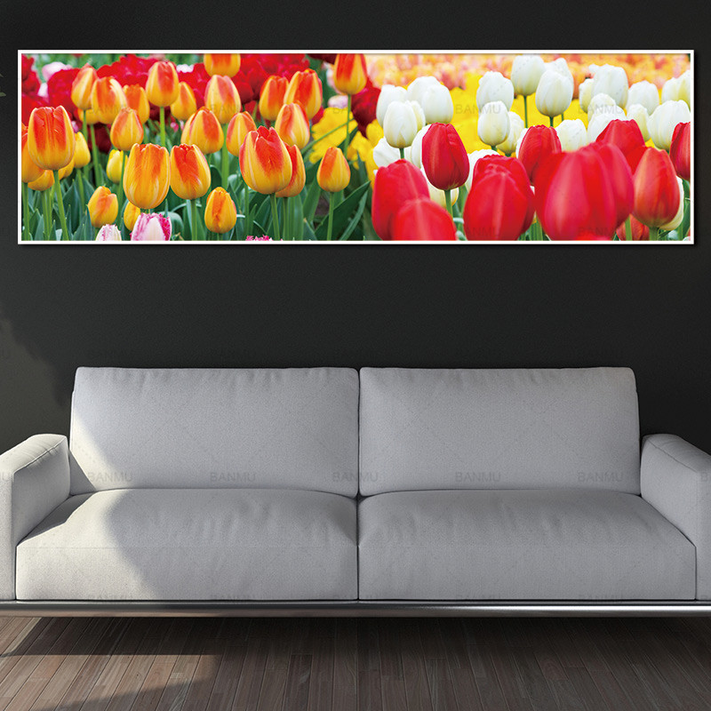 wall picture canvas painting flower art prints and posters wall art picture no frame Painting decoration for living room