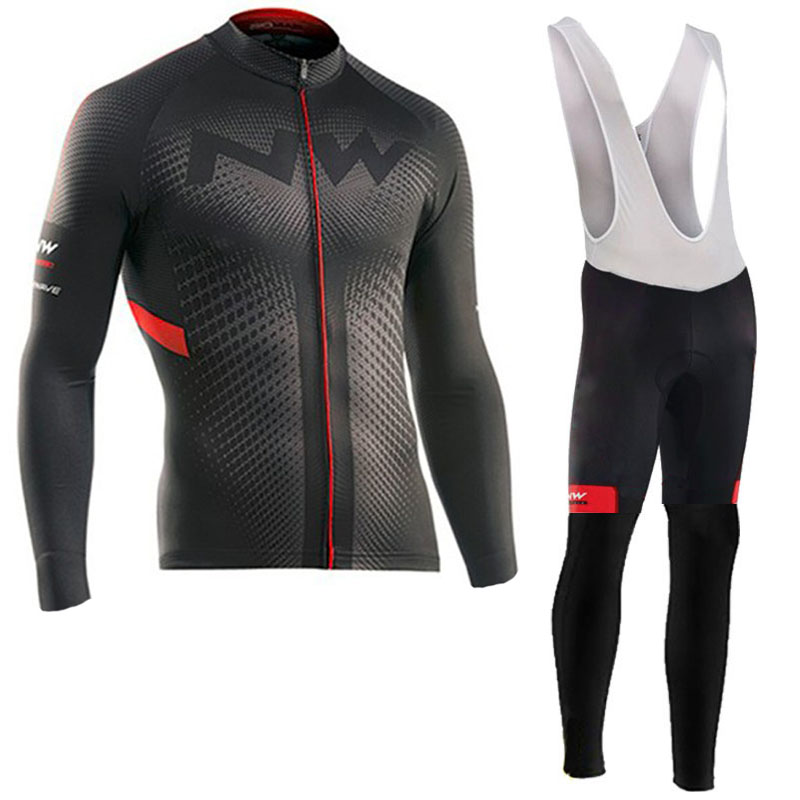 NW Brand Anti UV Cycling Jersey Set Breathable Long Sleeve Bike Cycling Clothing Mountain Bicycle Wear