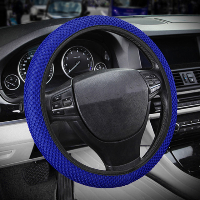 New Four Seasons Universal Sandwich Set ice Silk Steering Wheel Cover Car Handle Set Steering Wheel Cover 38CM Wear-resistant