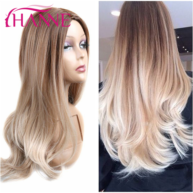 Synthetic Wigs for Black Women Light Brown and blonde Mixed Body Wave Wig Natural Hair Women's Brown Wigs For White Women Peluca