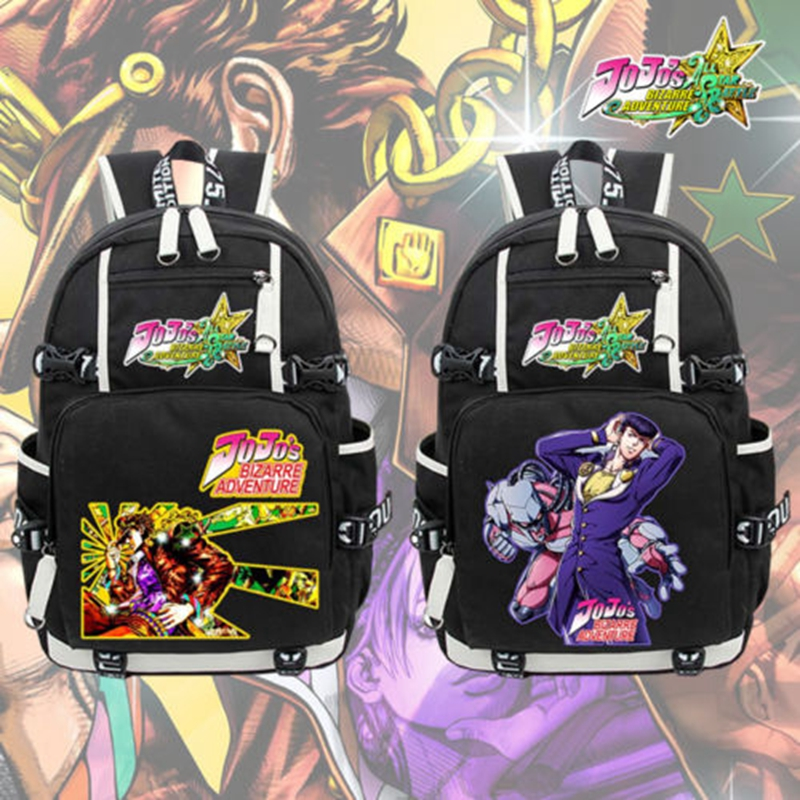 2017 New JoJo's Bizarre Adventure Laptop Backpack Cosplay JOJO Cartoon School bags 17  College Students Bag Bookbag Travelbag high q cartoon rick and morty 2017 new arrival backpack students couple printing candy color leisure bags