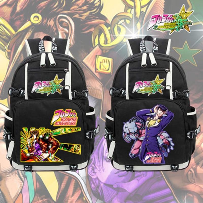 2017 New JoJo's Bizarre Adventure Laptop Backpack Cosplay JOJO Cartoon School bags 17  College Students Bag Bookbag Travelbag casio casio gd x6900mc 5e