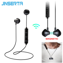 JINSERTA 2017 In Ear Wireless Bluetooth Earphone Magnetic Stereo Sport Running Headsets With Mic For IPhone Samsung Xiaomi