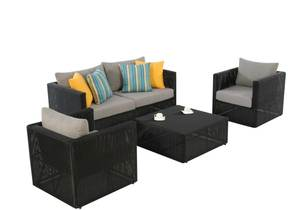 High Quality small outdoor ratan link wicker furniture