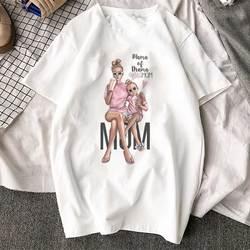 Korean Fashion Clothing 2019 New Arrival T Shirt Tee Shirt Super Mom Female T-shirt Mother's Harajuku Kawaii White Tshirt Women 2