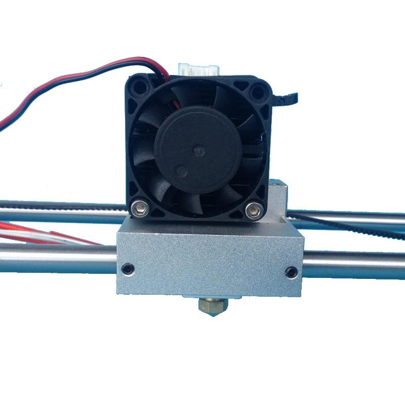 3D принтер MK10 один Насадка Экструдер комплект совместим с Makerbot 2 металла экструдер оси x ползуна для 1.75 мм нити