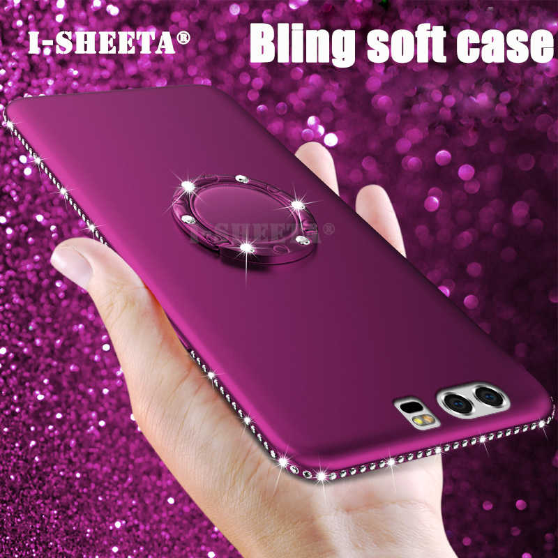Shockproof For Huawei P10 Lite Case P10Lite Glitter Diamond Frame 3D Soft TPU Silicone Back Cover for Huawei P10 Lite Fundas
