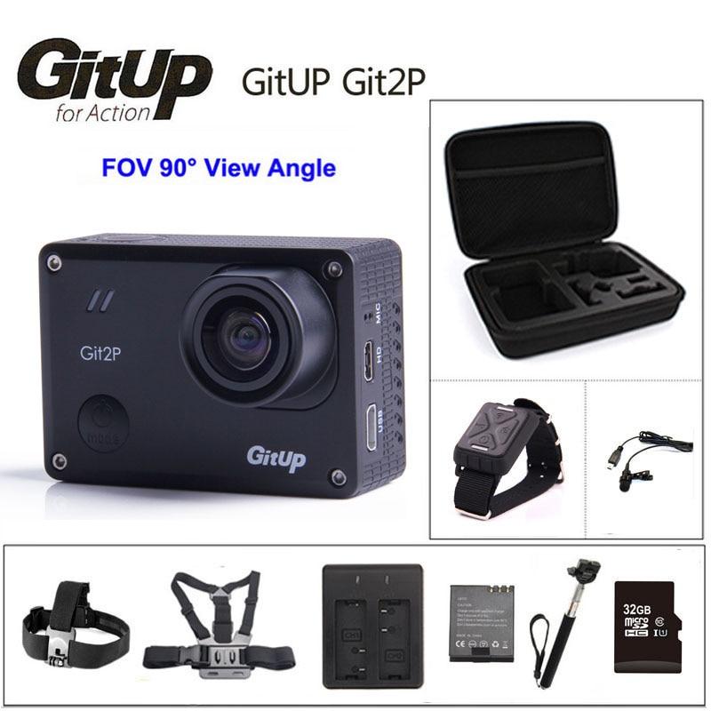 GitUp Git2P Action Camera WiFi 2K Sports DV 16MP 90 Degree Lens Novatek 96660 2160P Outdoor mini Camcorder Camera