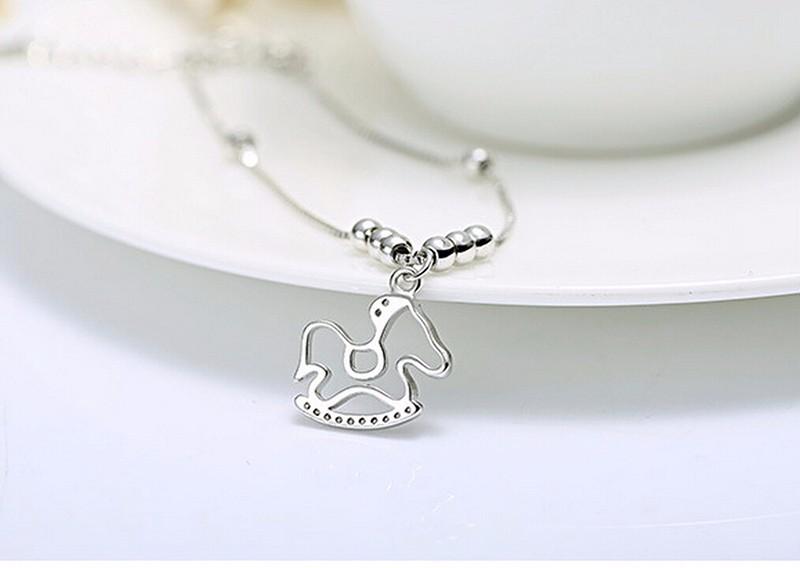 silver pony charm brace3let or Anklet