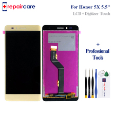 For Huawei Honor 5X GR5 LCD Display+Touch Screen Screen Digitizer Assembly Replacement For Huawei Honor 5X GR5 high quality for huawei honor 5x 2gb ram lcd lcd display touch screen digitizer assembly smartphone replacement parts