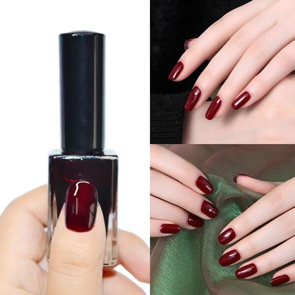 Esmalte de uñas 15 ml Diseño Regular Rojo Oscuro Color de Esmalte de ...
