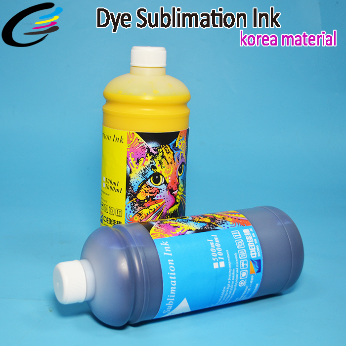 6 Colors Inkjet Printer Ink for Epson T50 R330 1390 T60 P50 Water Based Dye Sublimation Ink