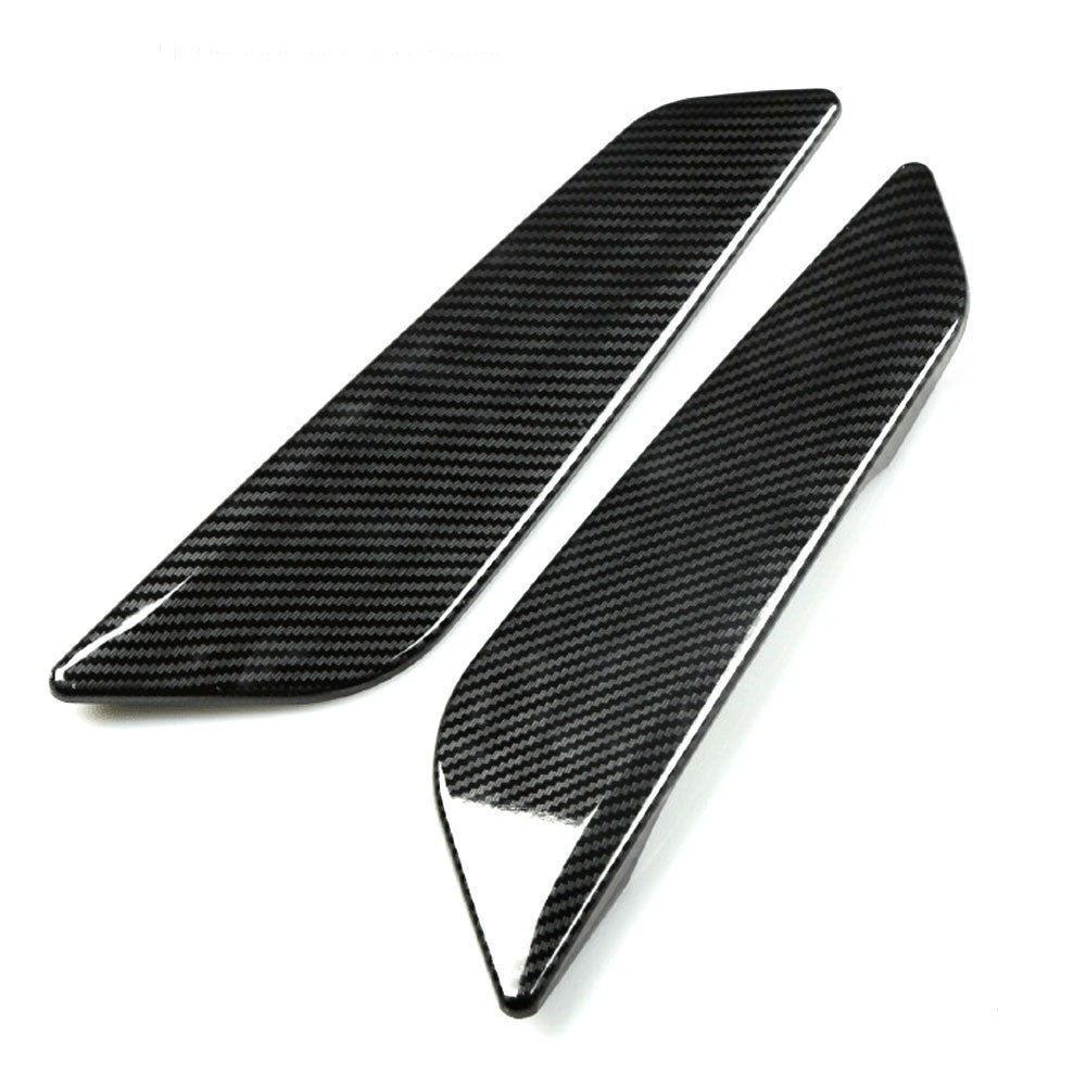 BBQ@FUKA 2pcs Carbon Fiber Style Car Side Wing Air Flow Intake Trim car styling For BMW 5 Series G30 G31 17 Car accessories epr car styling for mazda rx7 fc3s carbon fiber triangle glossy fibre interior side accessories racing trim