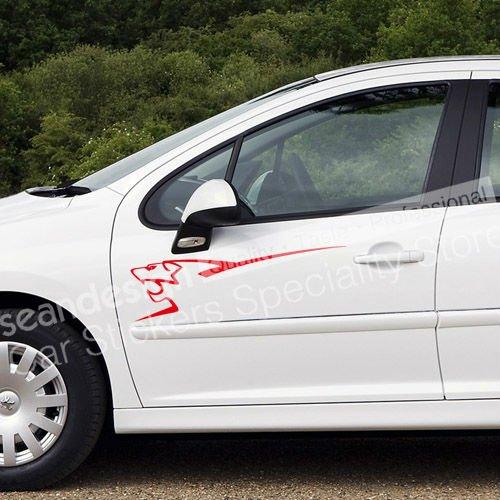 For Peugeot Sport Lion 206 207 307 308 407 408 Auto Car Decal Sticker PVC wenger sport 3118 408
