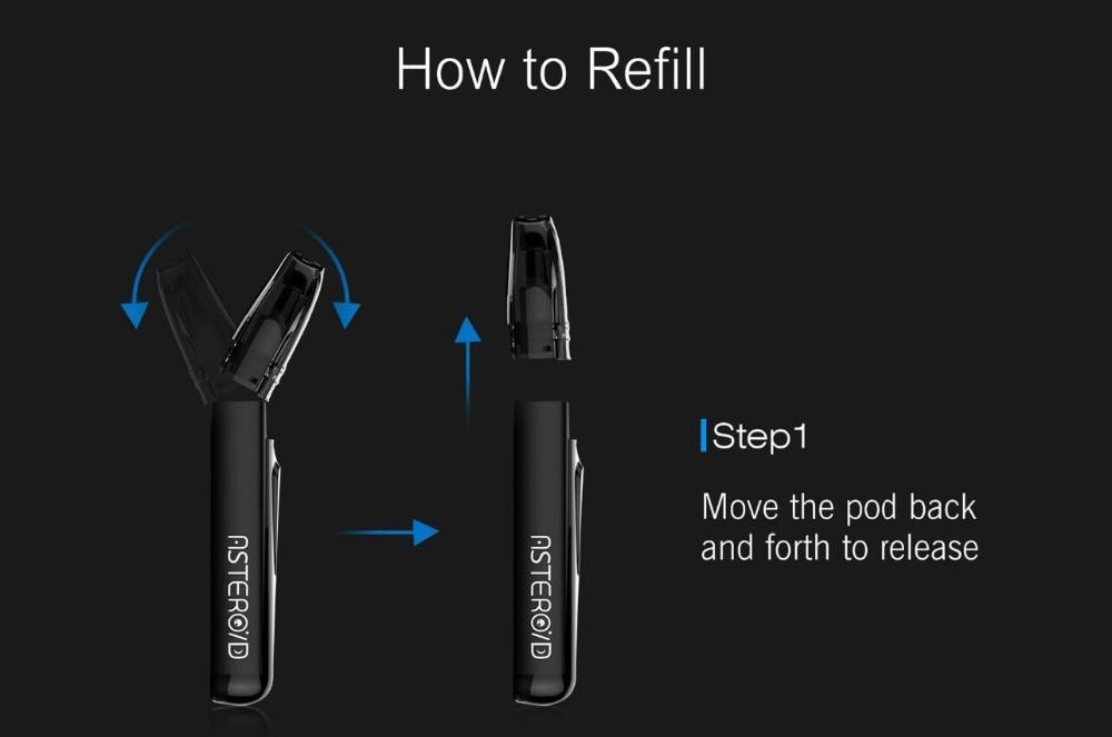 , (3pcs/lot) Electronic Cigarette Think Vape Asteroid 420mAh Starter Kit 1.6ohm Coil Cartridge Vape Pod System VS Justfog Minifit