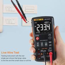 Q1 true-rms multímetro digital auto 9999 contagens com ac/dc tensão amperímetro corrente ohm transistor tester power meter teste