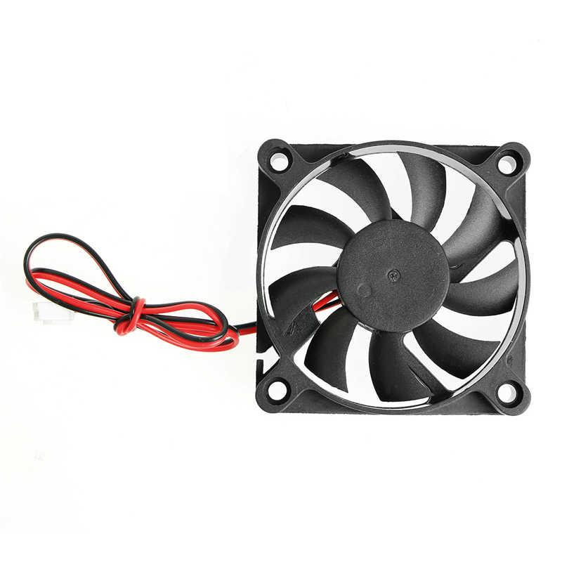 12V CC 2 pines 60x60x10mm ordenador CPU sistema manguito-cojinete ventilador de refrigeración 6010 3200RPM