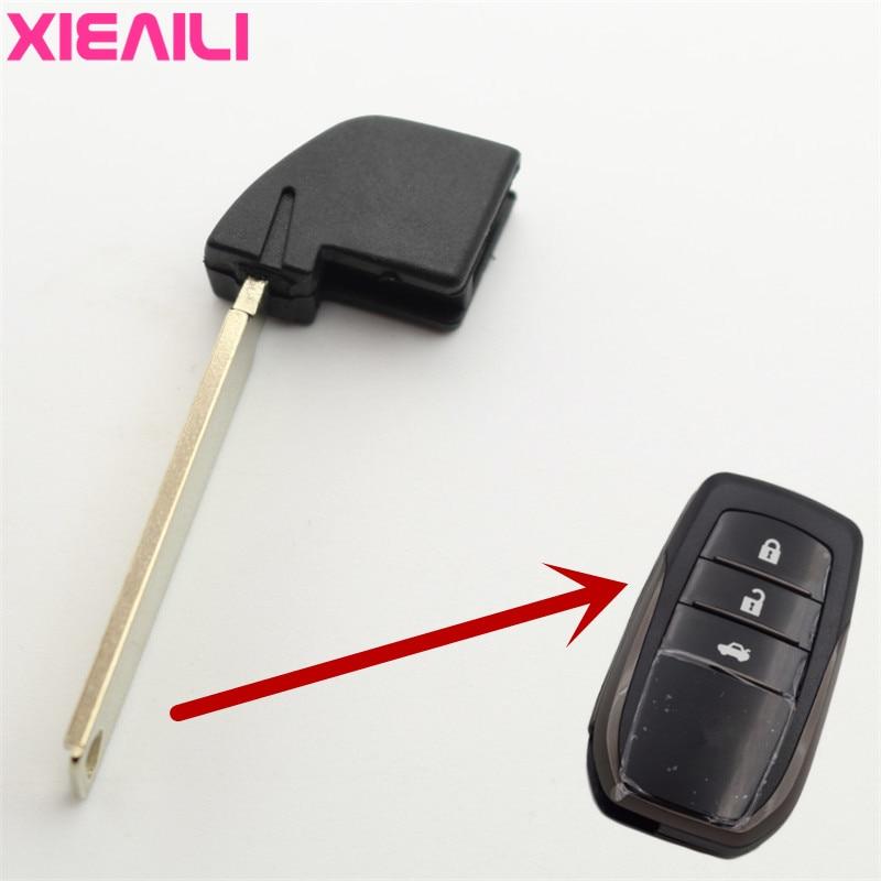 XIEAILI 50Pcs Blank Uncut Remote Smart Key Blade For Toyota Camry Highlander RAV4 Prado Reiz S125