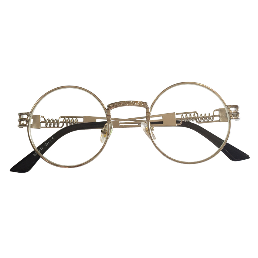 a7044988f1a7 Peekaboo clear fashion gold round frames eyeglasses for women vintage  steampunk round glasses frames for men male nerd metal-in Eyewear Frames  from Apparel ...