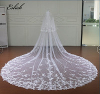 Eslieb 3.5 Meter Cathedral Wedding Veils Long Bow Bridal Veil with Comb Wedding Accessories Bride Mantilla Wedding Veil 2018