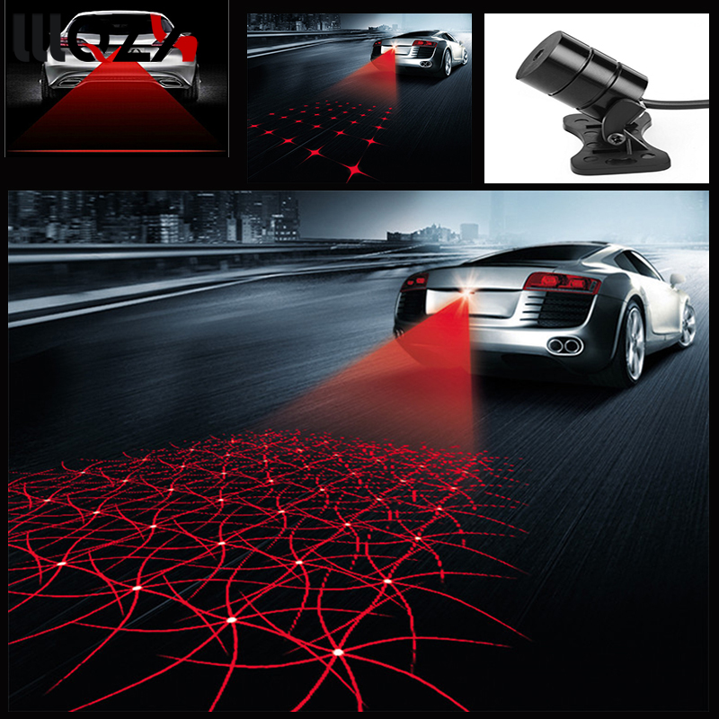 Car Motorcycle Laser Fog Light Anti Collision Tail Lamp Auto Moto Braking Parking Signal Warning Lamps Car styling Universal LED стоимость