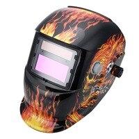 Solar Powered Auto Darkening Welding Helmet Protection For Grinding Lens Tig Welder Mask J