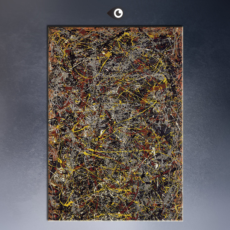 number 5 jackson pollock 1948 wall painting picture leaf mirrored metal wall sculpture mirror mirrors living room