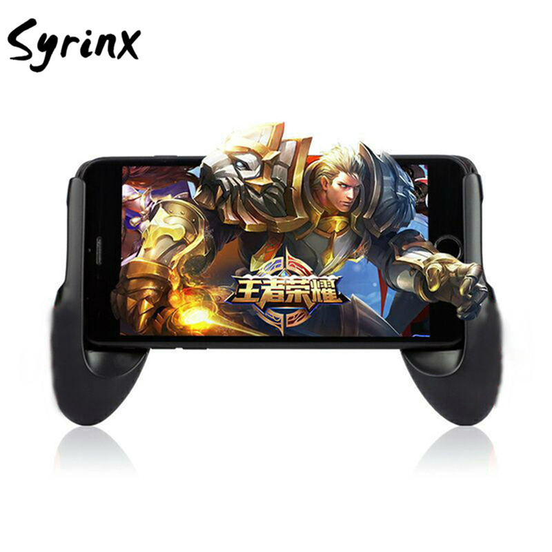 SYRINX Phone Game Mount Bracket Gamepad Hand Grip Clip Stand For Iphone X 8 7 Samsung S9 S8 Xiaomi Mi8 Huawei P10 Gaming Handle
