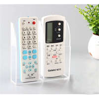 New 1 2 3 Cases Acrylic Remote Control Holder Case Transparent TV Air Conditioner Wall Mount