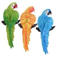 Realistic Parrot Sculpture Figure for Home Garden Outdoor Indoor Decor Resin