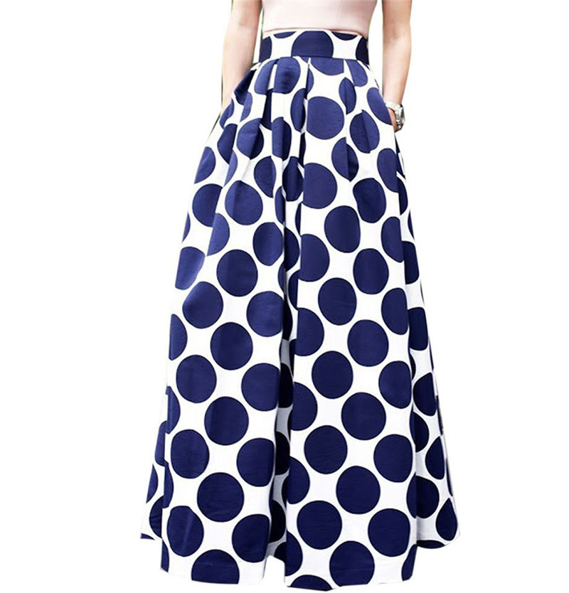 Plus Size US Size Elegant French Style Retro Skirt Polka Dot Large A Line Skirt Skirt Fashion High Waist Skirts
