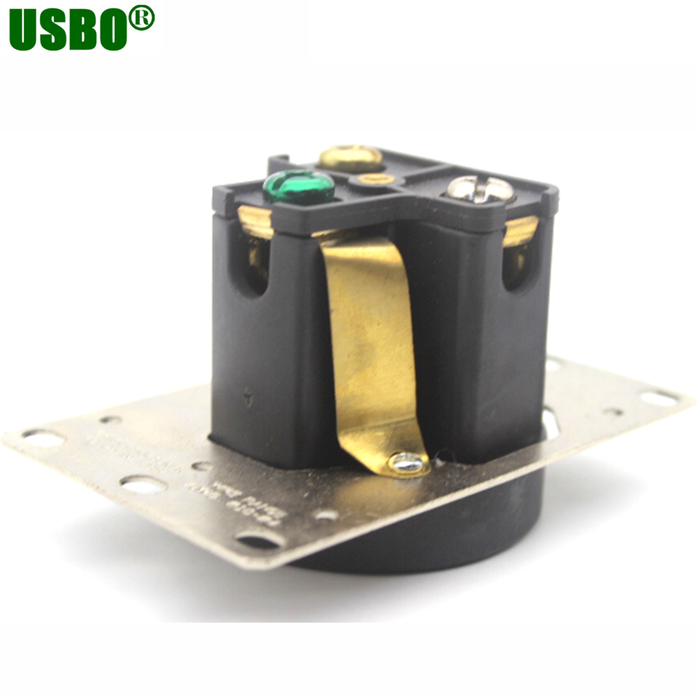 US $10 98 |American 250V 30A 3 hole NEMA 6 30R US Generator outlet Anti off  industrial power socket plug inline wire connector with panel on