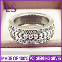 LS New Arrival 100% 925 Sterling Silver Forever P Ring For Women DIY Fashion Rings.Christmas Ring Sets.fashion jewelry 2017.N