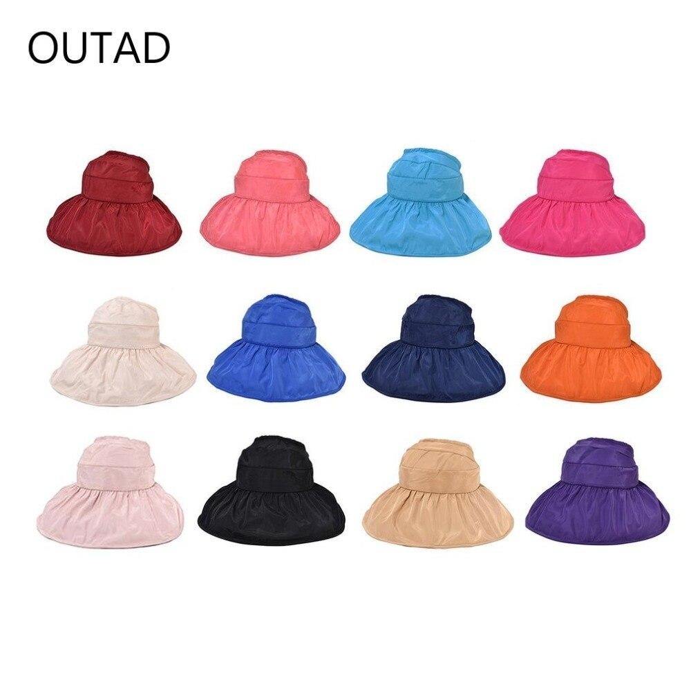 Herrlich Trendy Korean Fashion Frauen Sommer Sonnencreme Hut Klassische Design Anti-uv Faltbare Damen Einfarbig Weibliche Strand Hut üBereinstimmung In Farbe Schutzhelm