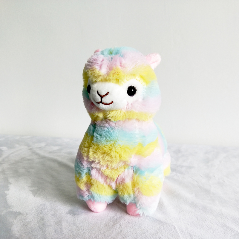 Lovely God Beast Rainbow Camel Doll Plush Toy Color Grass Mud Horse Doll